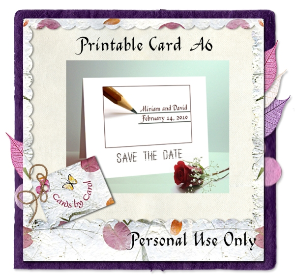 ccrl Save the Date Pencil Lines